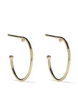 Wouters & Hendrix Gold 18kt yellow gold Ball Hoop earrings