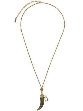 Saint Laurent Folk Saber pendant - Metallic