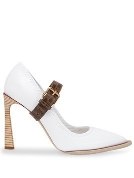 Fendi FF strap décolleté pumps - White