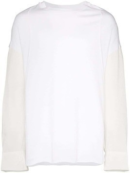 Bed J.W. Ford button-sleeve T-shirt - White