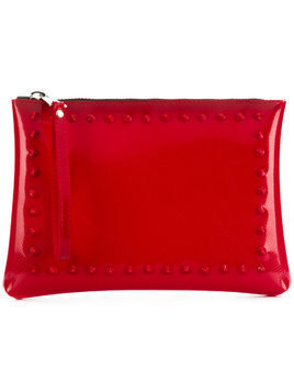 Gum studded clutch bag - Red