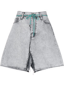 Aries Aceed open denim skirt - Grey