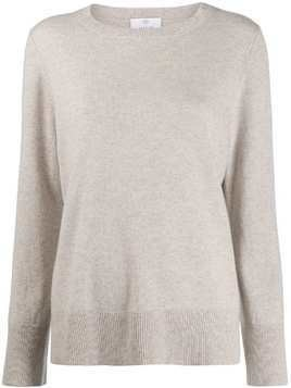Allude round neck jumper - NEUTRALS