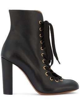 Chloé Black Miles lace up ankle boots
