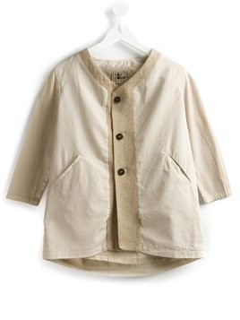 Lost And Found Kids panelled v-neck jacket - Nude & Neutrals