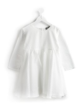 Lost And Found Kids pleated dress - White