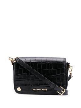 Michael Michael Kors logo plaque crossbody bag - Black