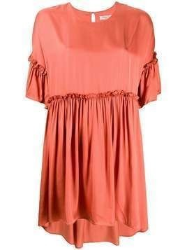 Jovonna Rendaze ruffle-trimmed dress - ORANGE