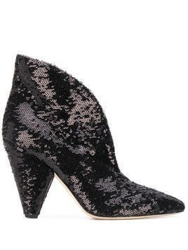 P.A.R.O.S.H. sequinned ankle boots - Black