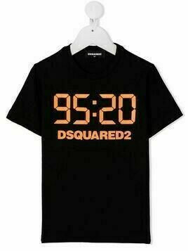 Dsquared2 Kids TEEN logo print T-shirt - Black