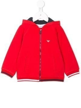 Emporio Armani Kids hooded bomber jacket - Red