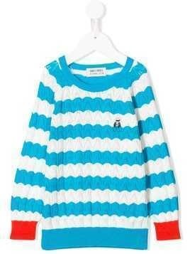 Bobo Choses striped crochet jumper - Blue