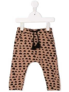 Yellowsub printed drawstring leggings - Brown