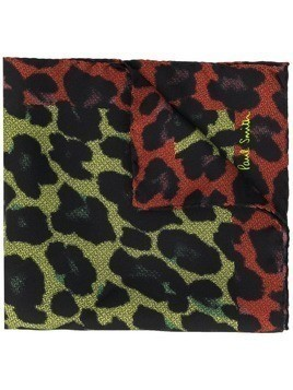 Paul Smith leopard print pocket square scarf - Green