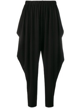 Issey Miyake draped tapered trousers - Black