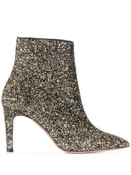 P.A.R.O.S.H. glittered ankle boots - Black