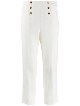 Edward Achour Paris high-waist fitted trousers - White