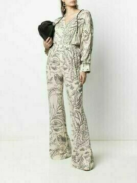 Aeron printed flared trousers - Neutrals