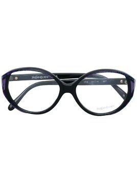 Yves Saint Laurent Pre-Owned patterned frame glasses - Black