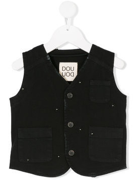 Douuod Kids embroidered gilet - Black