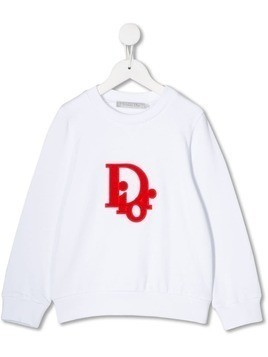 Baby Dior embroidered logo sweatshirt - White