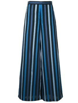 Osman striped palazzo trousers - Black