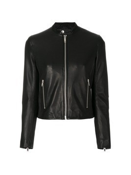 Dondup button collar biker jacket - Black