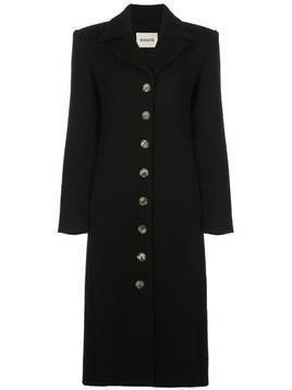 Khaite Georgine single-breasted coat - Black