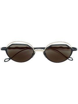 Kuboraum square tinted sunglasses - Black