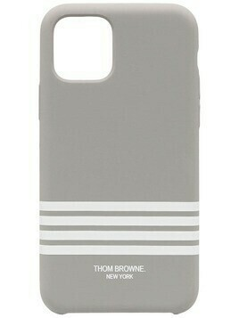 Thom Browne 4-Bar print iPhone 11 Pro case - 035 MED GREY