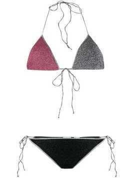Oseree Lumiere halterneck bikini set - Black