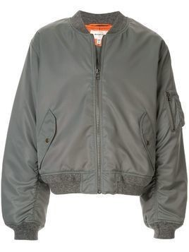 Makavelic zipped bomber jacket - Grey