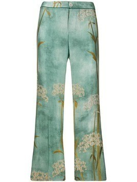 F.R.S For Restless Sleepers straight printed trousers - Blue