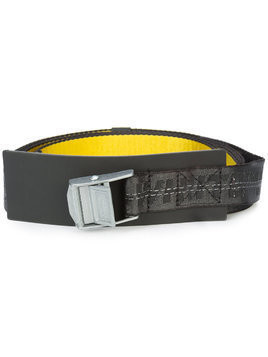 Off-White industrial logo printed buckle belt - Yellow & Orange
