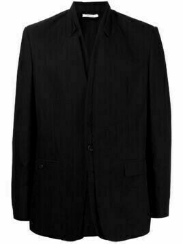 Isabel Benenato single-breasted tailored blazer - BLACK