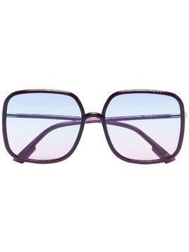 Dior Eyewear square frame ombre sunglasses - Black