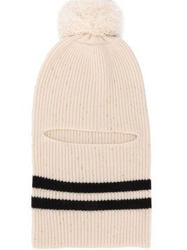Cashmere In Love Megeve pompom balaclava - Neutrals