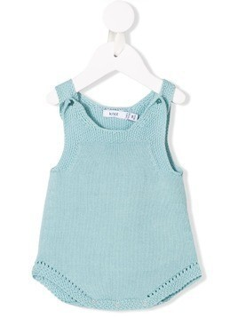 Knot knitted romper - Blue