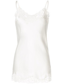 Gold Hawk lace trim camisole vest - White