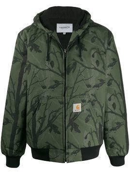 Carhartt WIP tree-print hooded jacket - Green