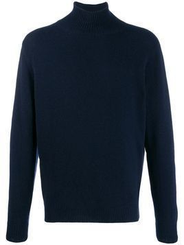 Caruso turtle neck jumper - Blue