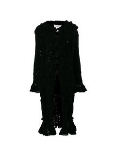 Christian Dior Vintage Chenille knitted long coat - Black