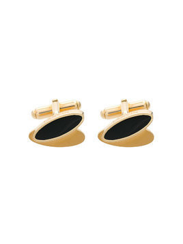 Lanvin oval shaped cufflinks - Metallic