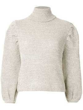Framed knit cropped top - NEUTRALS