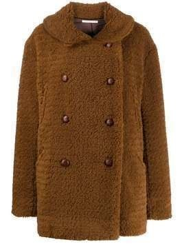 6397 shearling peacoat - Brown
