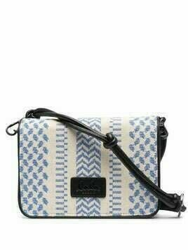 Lala Berlin Eline chevron-knit crossbody bag - Neutrals