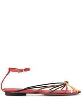 L'Autre Chose strapy low-heel sandals - Red