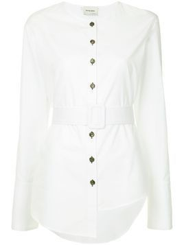 Monographie trench long sleeve shirt - White
