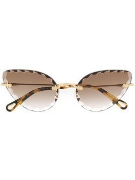 Chloé Eyewear cat eye frame sunglasses - Gold
