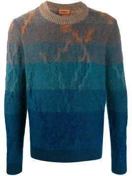 Missoni colour block patterned sweater - Blue
